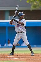Alonzo Harris #16 of the Kingsport Mets at bat versus the Burlington Royals at Burlington Athletic Park July 3, 2009 in Burlington, North Carolina. (Photo by Brian Westerholt / Four Seam Images)