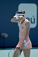 MIAMI GARDENS, FLORIDA - MARCH 26: Naomi Osaka of Japan defeats Ajla Tomljanovi? of Australia on Day 5 of the 2021 Miami Open on March 26, 2021 in Miami Gardens, Florida<br /> People:  Ajla Tomljanovic <br /> CAP/MPI122<br /> ©MPI122/Capital Pictures