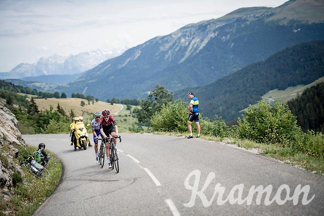 race leaders Pavel Sivakov (RUS/Ineos) & Julian Alaphilippe (FRA/Deceuninck-QuickStep)<br /> <br /> Stage 5: Megève to Megève (154km)<br /> 72st Critérium du Dauphiné 2020 (2.UWT)<br /> <br /> ©kramon
