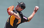 Salt Lake Bees' Tim Lincecum pitches against the Reno Aces at Greater Nevada Field in Reno, Nev., on Tuesday, June 7, 2016. <br />