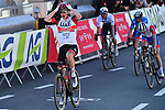 Tadej Pogacar (SLO) UAE Team Emirates wins the 107th edition of Liege-Bastogne-Liege 2021, running 259.1km from Liege to Liege, Belgium. 25th April 221.  <br /> Picture: Serge Waldbillig | Cyclefile<br /> <br /> All photos usage must carry mandatory copyright credit (© Cyclefile | Serge Waldbillig)