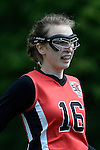 GER - Hannover, Germany, May 30: During the Women Lacrosse Playoffs 2015 match between DHC Hannover (black) and SC Frankfurt 1880 (red) on May 30, 2015 at Deutscher Hockey-Club Hannover e.V. in Hannover, Germany. Final score 23:3. (Photo by Dirk Markgraf / www.265-images.com) *** Local caption ***Hanna Kolass #16 of SC 1880 Frankfurt