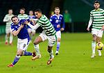 Celtic v St Johnstone…06.12.20   Celtic Park      SPFL<br />Christopher Jullien and Chris Kane<br />Picture by Graeme Hart.<br />Copyright Perthshire Picture Agency<br />Tel: 01738 623350  Mobile: 07990 594431