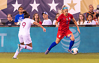 PHILADELPHIA, PA - AUGUST 29: Julie Ertz #8 of the United States dribbles during a game between Portugal and the USWNT at Lincoln Financial Field on August 29, 2019 in Philadelphia, PA.