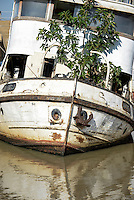 KENYA Kisumu, old ship MV Reli, out of service / KENIA  Kisumu, altes Schiff MV Reli, ausser Dienst