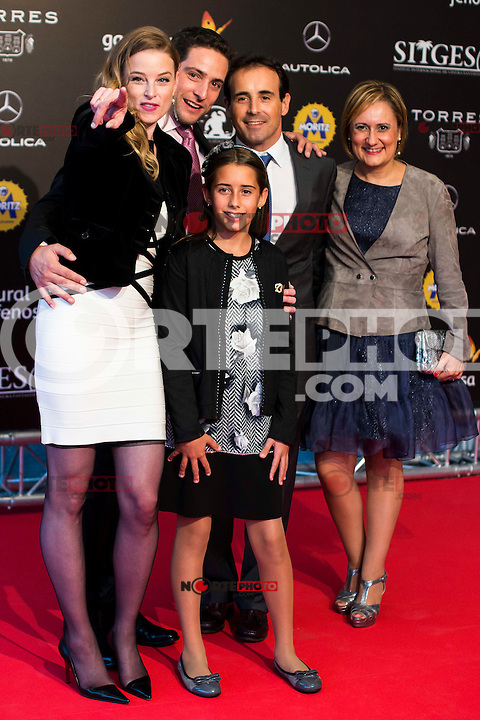 Rachel Nichols and her family during the red carpet of the opening ceremony of the Festival de Cine Fantastico de Sitges in Barcelona. October 07, Spain. 2016. (ALTERPHOTOS/BorjaB.Hojas) NORTEPHOTO.COM