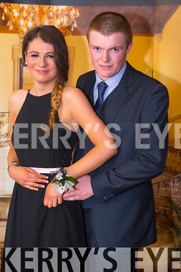 Jessica O'Connor and Thomas Dowling enjoying the Castlegregory Secondary School Debs at the Brandon Hotel on Saturday