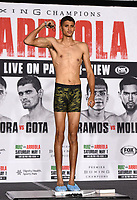 LOS ANGELES, CA - APRIL 30: Sebastian Fundora attends the official weigh-in for the Andy Ruiz Jr. vs Chris Arreola Fox Sports PBC Pay-Per-View in Los Angeles, California on April 30, 2021. The PPV fight is on May 1, 2021 at Dignity Health Sports Park in Carson, CA. (Photo by Frank Micelotta/Fox Sports/PictureGroup)