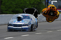 May 14, 2011; Commerce, GA, USA: NHRA pro stock driver Allen Johnson during qualifying for the Southern Nationals at Atlanta Dragway. Mandatory Credit: Mark J. Rebilas-