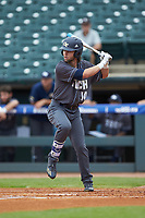 Chase Murray (10) of the Georgia Tech Yellow Jackets at bat against the Miami Hurricanes during game one of the 2017 ACC Baseball Championship at Louisville Slugger Field on May 23, 2017 in Louisville, Kentucky. The Hurricanes walked-off the Yellow Jackets 6-5 in 13 innings. (Brian Westerholt/Four Seam Images)