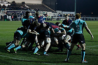 Matas Jurevicius of London Scottish on top of the maul during the Greene King IPA Championship match between London Scottish Football Club and Nottingham Rugby at Richmond Athletic Ground, Richmond, United Kingdom on 7 February 2020. Photo by Carlton Myrie.