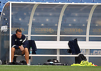 HOOVER, AL - DECEMBER 09, 2012: Coach Brian Weise of Georgetown University before the NCAA 2012 Men's College Cup championship, at Regions Park, in Hoover , AL, on Sunday, December 09, 2012.