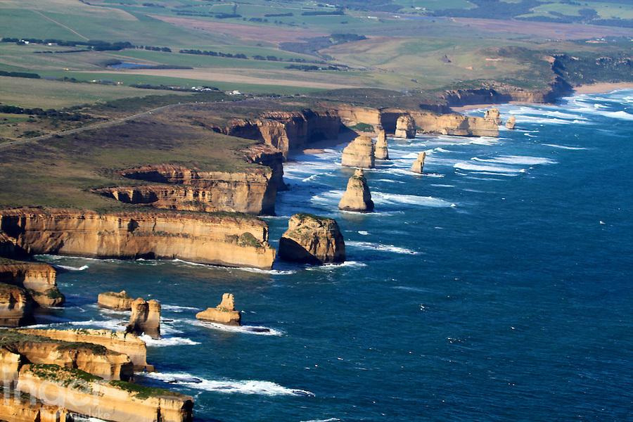 Aerial View of the Twelve Apostles, The Great Ocean Road, Victoria