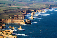 Aerial View of the Twelve Apostles, The Great Ocean Road, Victoria