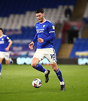 16th March 2021; Cardiff City Stadium, Cardiff, Glamorgan, Wales; English Football League Championship Football, Cardiff City versus Stoke City; Kieffer Moore of Cardiff City