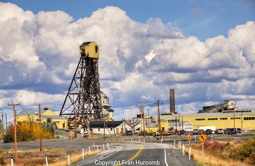 Giant mine headframe