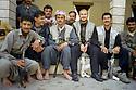 Iraq 2003  In Sheikhan, bodyguards of  Mir Tahseen  Said Beg in front his house<br />Irak 2003  A sheikhan, les gardes du corps de Tahseen Said ali Beg, prince des Yezidis