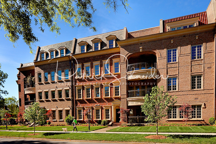 Part of a photography collection showing the variety of architectural styles of homes, apartments and condos in metropolitan Charlotte, NC. Image is of The Cherokee - Historically Inspired Eastover Homes.