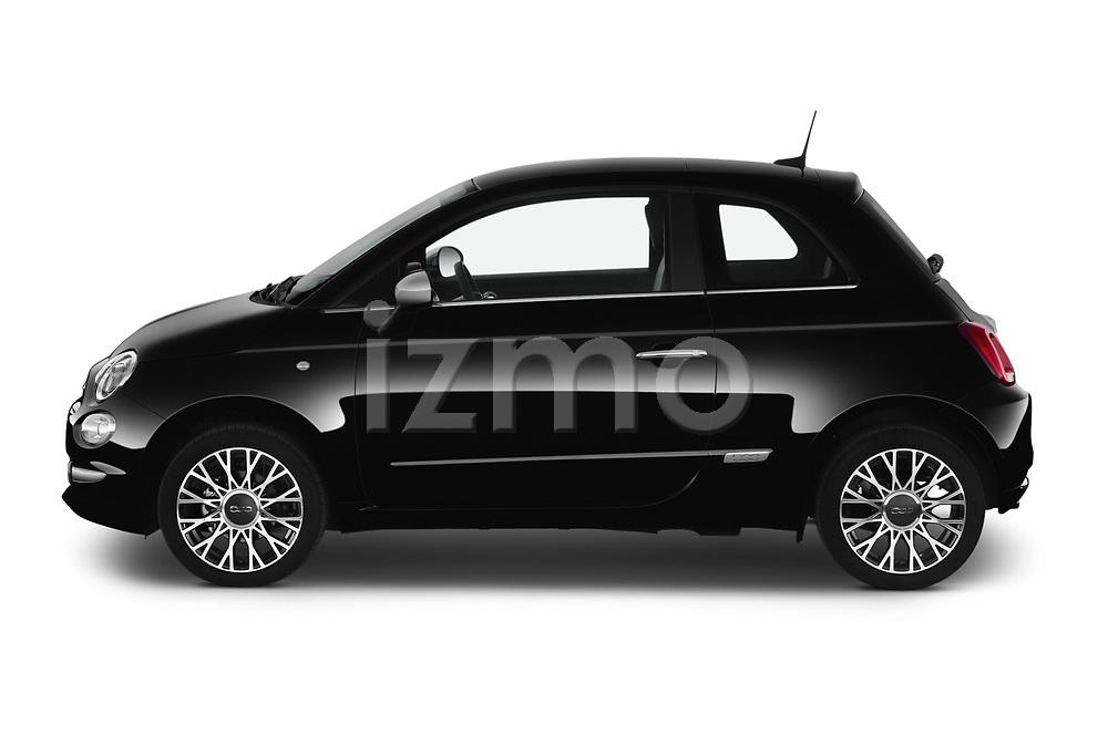 Car Driver side profile view of a 2020 Fiat 500 S8-Star 3 Door Hatchback Side View