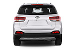 Straight rear view of a 2015 KIA Sorento Fusion AWD 5 Door Suv Rear View  stock images