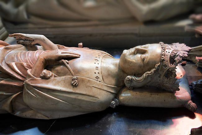 Tomb of  Louis X le Hutin (1289 - 1316) King of France 1314 to 1316.. The Gothic Cathedral Basilica of Saint Denis ( Basilique Saint-Denis ) Paris, France. A UNESCO World Heritage Site.
