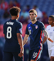 DENVER, CO - JUNE 3: Weston McKennie #8 and Christian Pulisic #10 of the United States during a game between Honduras and USMNT at EMPOWER FIELD AT MILE HIGH on June 3, 2021 in Denver, Colorado.