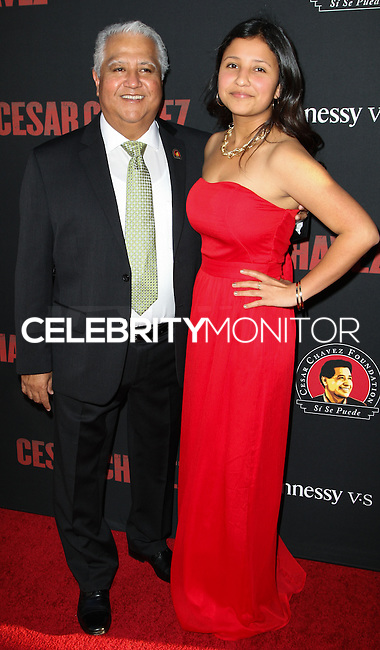 """HOLLYWOOD, LOS ANGELES, CA, USA - MARCH 20: Paul Chavez, Daniella Chavez at the Los Angeles Premiere Of Pantelion Films And Participant Media's """"Cesar Chavez"""" held at TCL Chinese Theatre on March 20, 2014 in Hollywood, Los Angeles, California, United States. (Photo by Celebrity Monitor)"""