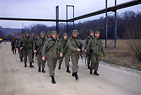 Canadian army soldiers during the United Nation<br /> 1999 peace mission in Bosnia<br /> <br /> Les soldats de l'armée Canadienne durant la mission de paix de l'ONU en 1999 en Bosnie<br /> <br /> photo : (c)  Images Distribution