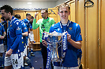 Livingston v St Johnstone …28.02.21   Hampden   BetFred Cup Final<br /> Ali McCann pictured in the dressing room after winning the BETFRED Cup<br /> Picture by Graeme Hart.<br /> Copyright Perthshire Picture Agency<br /> Tel: 01738 623350  Mobile: 07990 594431