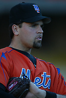 Mike Piazza of the New York Mets during a 2003 season MLB game at Dodger Stadium in Los Angeles, California. (Larry Goren/Four Seam Images)