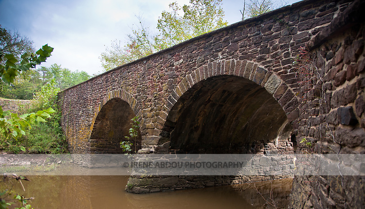 Stone bridge at Manassas National Battlefield Park in Virginia.