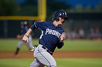AZL Padres 2 designated hitter Blake Hunt (30) rounds third base against the AZL Diamondbacks on August 29, 2017 at Salt River Fields at Talking Stick in Scottsdale, Arizona. AZL Diamondbacks defeated the AZL Padres 2 4-3. (Zachary Lucy/Four Seam Images)
