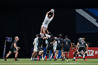 26th September 2020, Paris La Défense Arena, Paris, France; Champions Cup rugby semi-final, Racing 92 versus Saracens; Ryan (Racing 92) wins the lineout