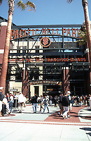 Ballparks: San Francisco Pacific Bell Park. Willie Mays Gate.