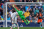 Goalkeeper Keylor Navas of Real Madrid in action during their La Liga match between Real Madrid and Valencia CF at the Santiago Bernabeu Stadium on 29 April 2017 in Madrid, Spain. Photo by Diego Gonzalez Souto / Power Sport Images