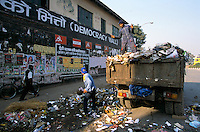 The Democracy Wall, surround by garbage in the heart of the capital Kathmandu..-The full text reportage is available on request in Word format