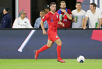 WASHINGTON, D.C. - OCTOBER 11: Daniel Lovitz #5 of the United States looks downfield for an open man during their Nations League game versus Cuba at Audi Field, on October 11, 2019 in Washington D.C.