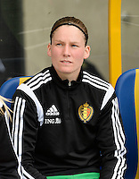 20150523 - SINT-TRUIDEN ,  BELGIUM : Belgian Sofie Van Houtven pictured during the friendly soccer game between the Belgian Red Flames and Norway, a preparation game for Norway for the Women's 2015 World Cup, Saturday 23 May 2015 at Staaien in Sint-Truiden , Belgium. PHOTO DAVID CATRY