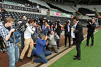 Michael Laudrup is official unveiled as the new manager of Swansea City FC in a press conference at the Liberty Stadium, today, 21/06/12<br />