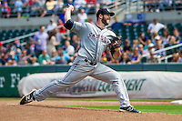 Colorado Springs Sky Sox pitcher Aaron Wilkerson (20) delivers a pitch during a game against the Iowa Cubs on September 4, 2016 at Principal Park in Des Moines, Iowa. Iowa defeated Colorado Springs 5-1. (Brad Krause/Four Seam Images)