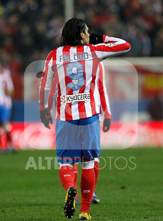 Madrid 21/03/2012.- Estadio Vicente Calderon..Liga BBVA..Atco.Madrid - Athletic Club.Falcao...©Alex Cid-Fuentes/ALFAQUI FOTOGRAFIA.........