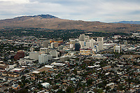 aerial photograph of Reno, Nevada