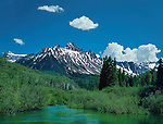 Mount Sneffels and beaver pond, Telluride, Colorado, USA. John guides custom photo tours in the Sneffels Range and throughout Colorado.