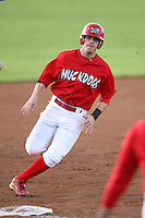August 31, 2009:  First Baseman Alan Ahmady of the Batavia Muckdogs rounds third base during a game at Dwyer Stadium in Batavia, NY.  The Muckdogs are the Short-Season Class-A affiliate of the St. Louis Cardinals.  Photo By Mike Janes/Four Seam Images
