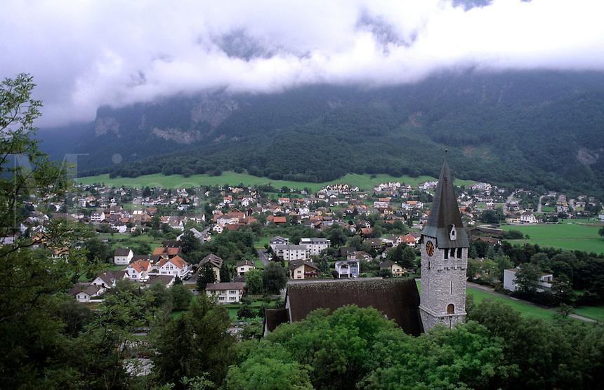 Village of Balzers in Liechtenstein the small country next to Switzerland