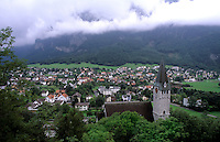 Village of Balzers in Liechtenstein the small country next to Switzerland