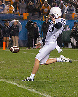 Penn State punter Blake Gillikin. The Penn State Nittany Lions defeated the Pitt Panthers 51-6 on September 08, 2018 at Heinz Field in Pittsburgh, Pennsylvania.