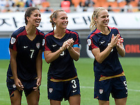 Shannon Boxx, Christie Rampone, Lindsay Tarpley. The USWNT defeated Canada, 1-0, at Suwon World Cup Stadium in Suwon, South Korea, to win the Peace Queen Cup.