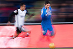 Jose Luis Gaya Pena of Valencia CF  in action against Francisco Portillo Soler of Getafe CF during the La Liga 2017-18 match between Getafe CF and Valencia CF at Coliseum Alfonso Perez on December 3 2017 in Getafe, Spain. Photo by Diego Gonzalez / Power Sport Images