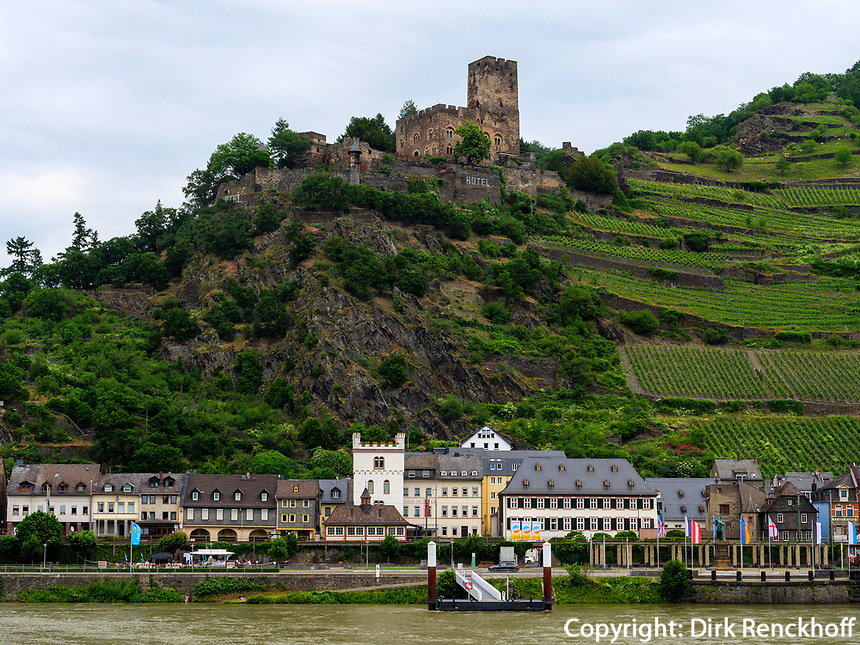 Kaub am Rhein, Rheinland-Pfalz, Deutschland, Europa<br /> Kaub at river Rhine, Rhineland-Palatinate, Germany, Europe